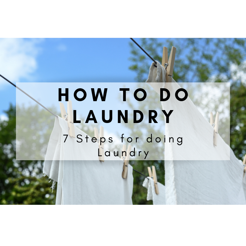 7 Steps for doing Laundry images
