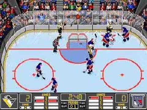 Nhl Hockey Gameplay Video Old Console Computer Games Hockey Nhl