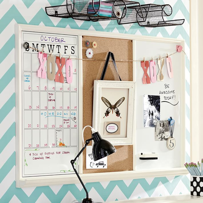 Study Wall Board Triple Cork Board Ideas For Bedroom