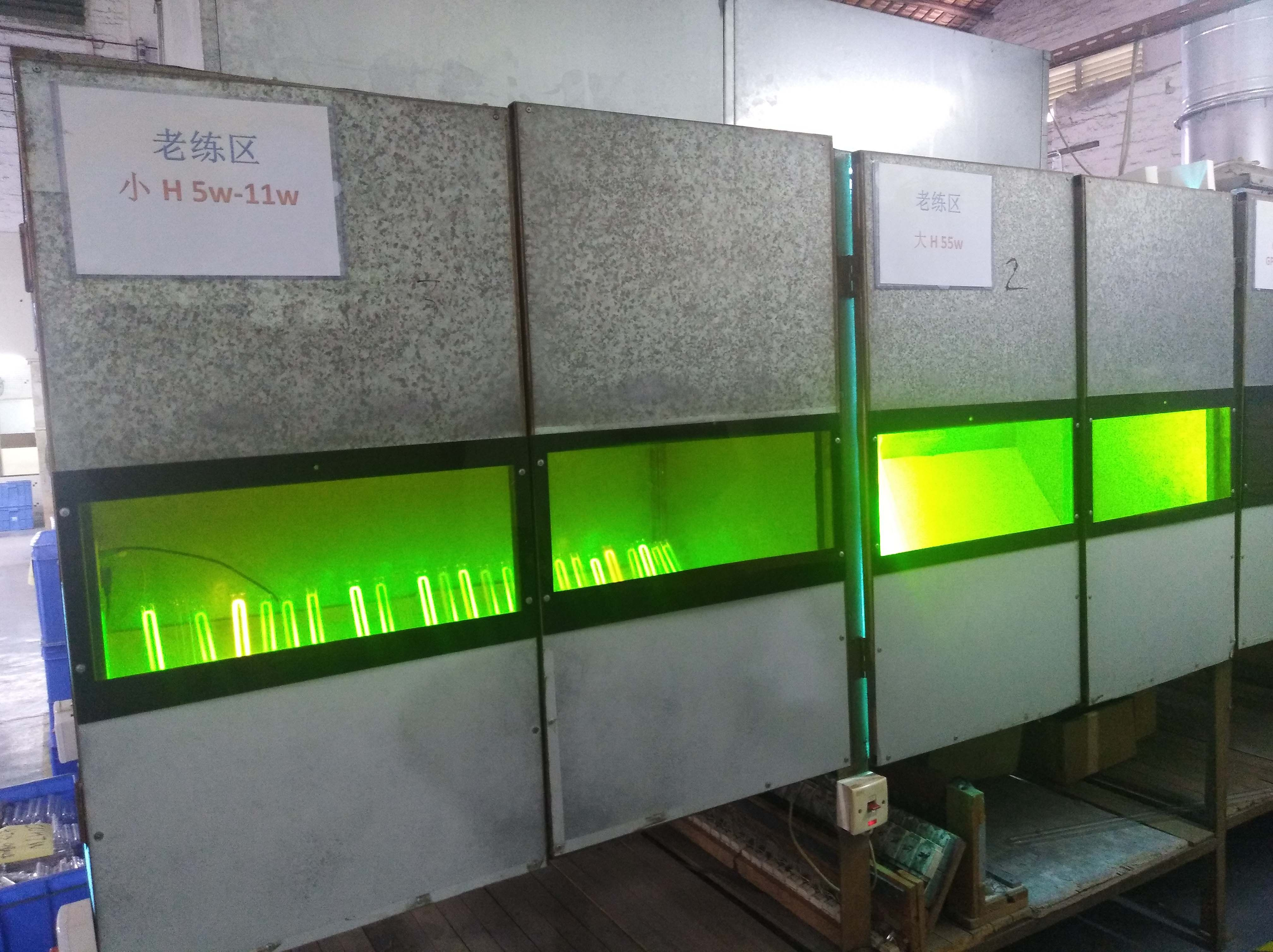 This Is Our Lamp Testing Area Each Lamp Will Be Tested Here Before The Next Step The Ones Unqualified Will Be Rejected In Order To Guarantee The Best Quality
