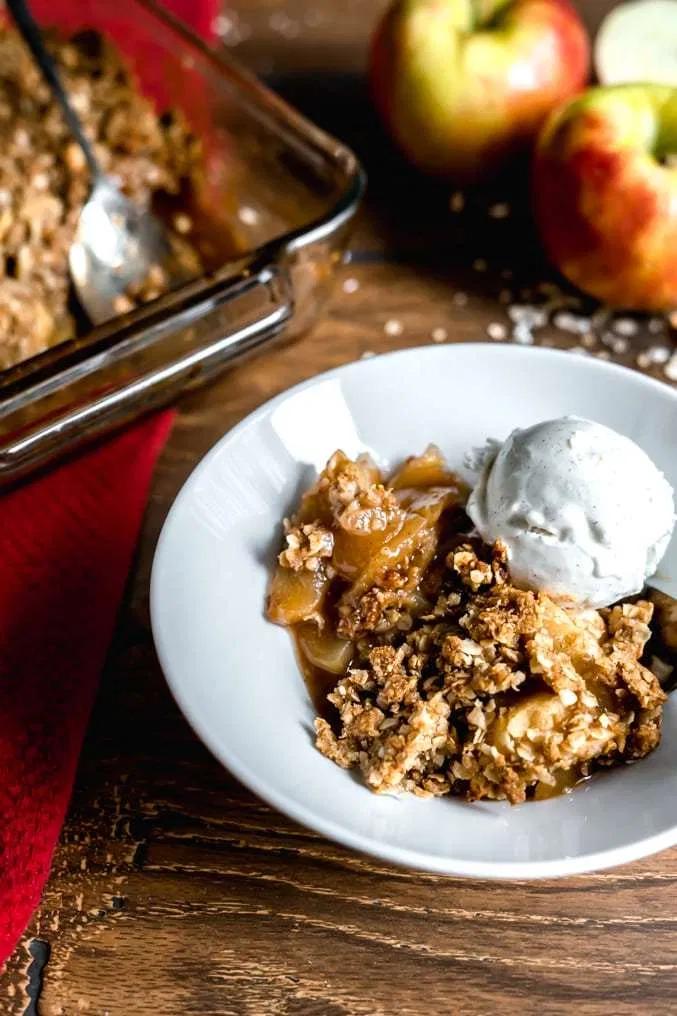 Healthy Gluten-Free Apple Crisp #applecrisprecipe