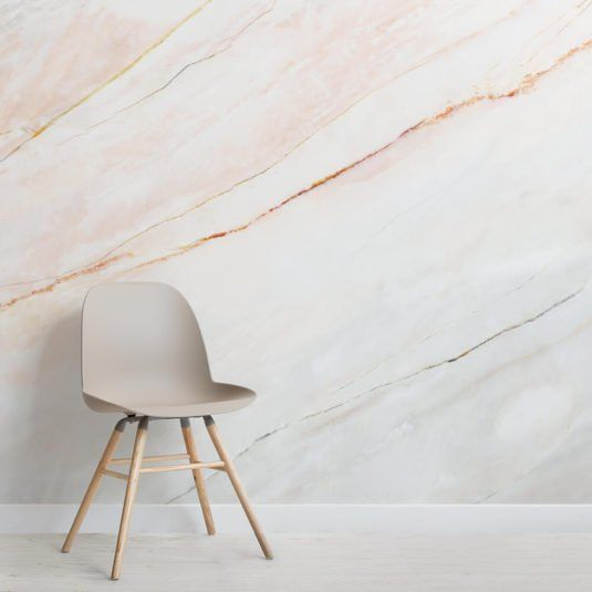 Textured White Marble Wall Mural (With images) Pink
