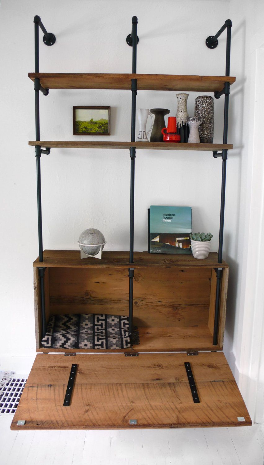 Reclaimed Wood & Pipe Shelving Unit Mid Century by Hindsvik ...