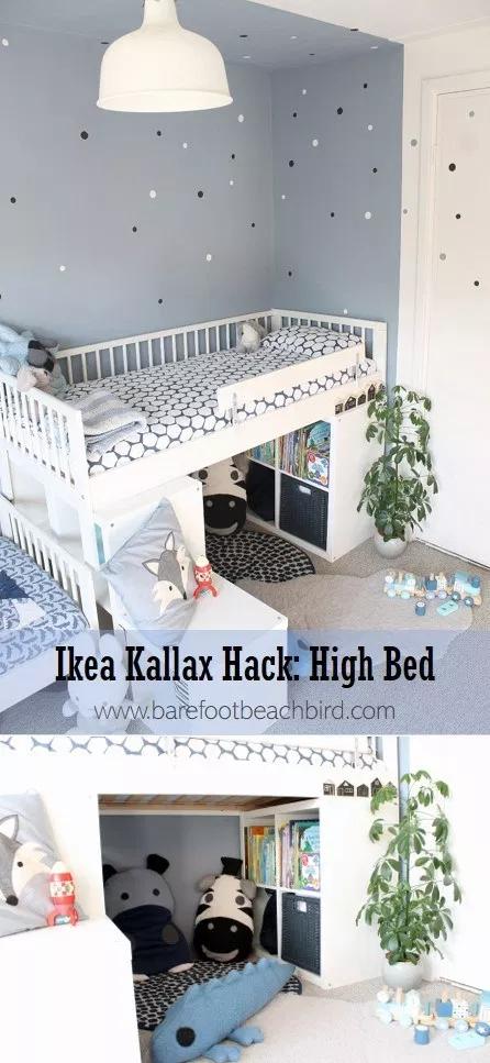 Ikea Kallax Hack High Bed Kallax Ikea Ikea Kids Bed Ikea Kallax Hack