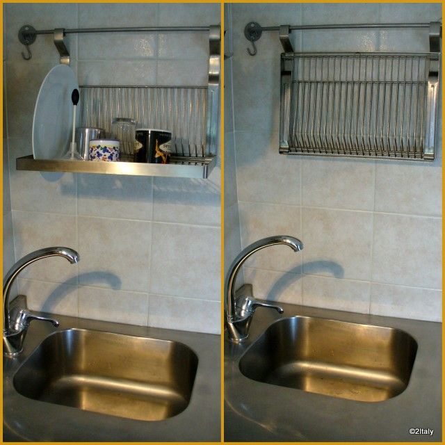 Hang Drying Rack Above Sink With Images Tiny Kitchen Dish