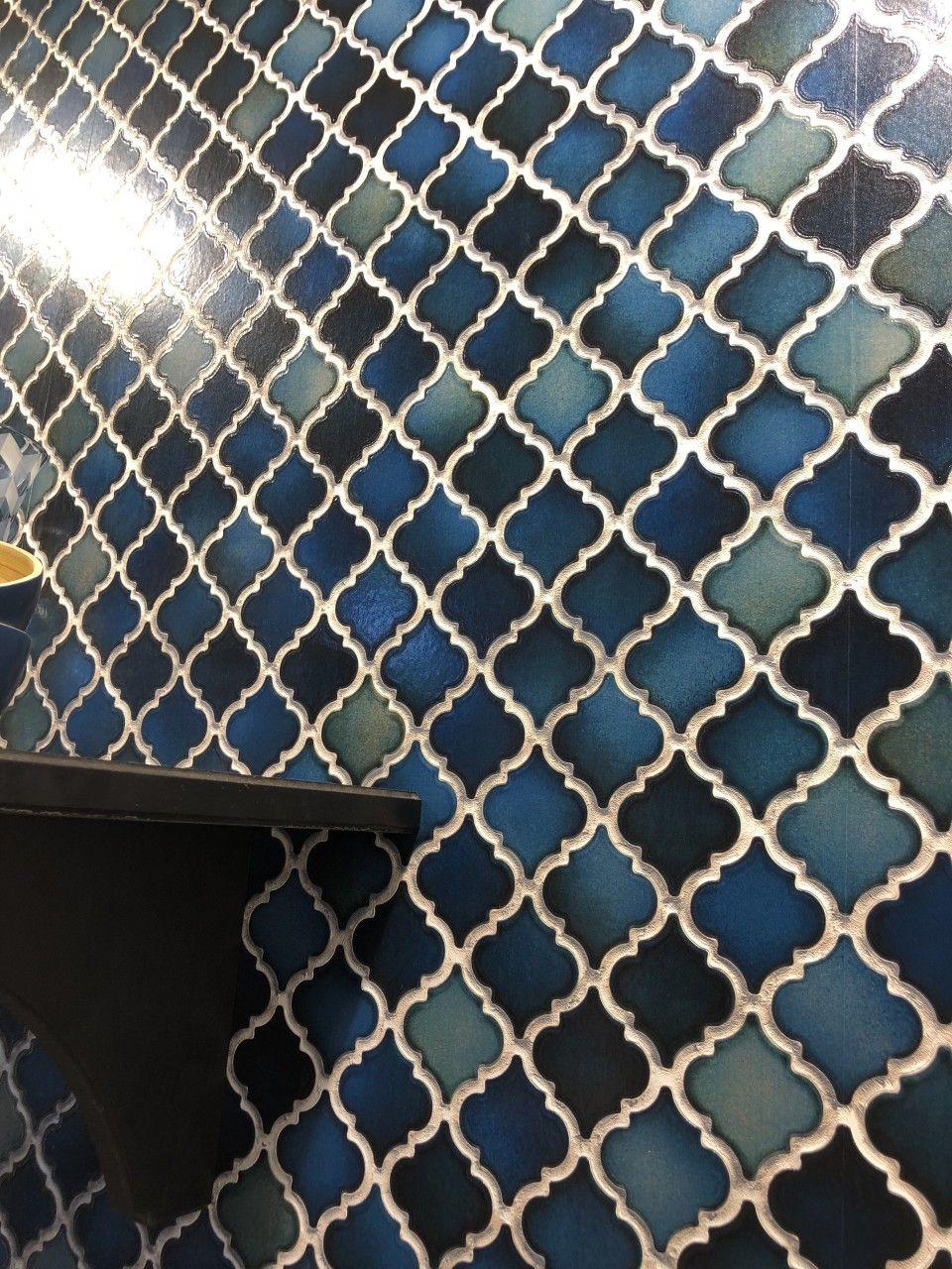 Vliestapete Keramik Mosaik Fliesen Florentiner Optik Petrol Blau - Florentiner fliesen