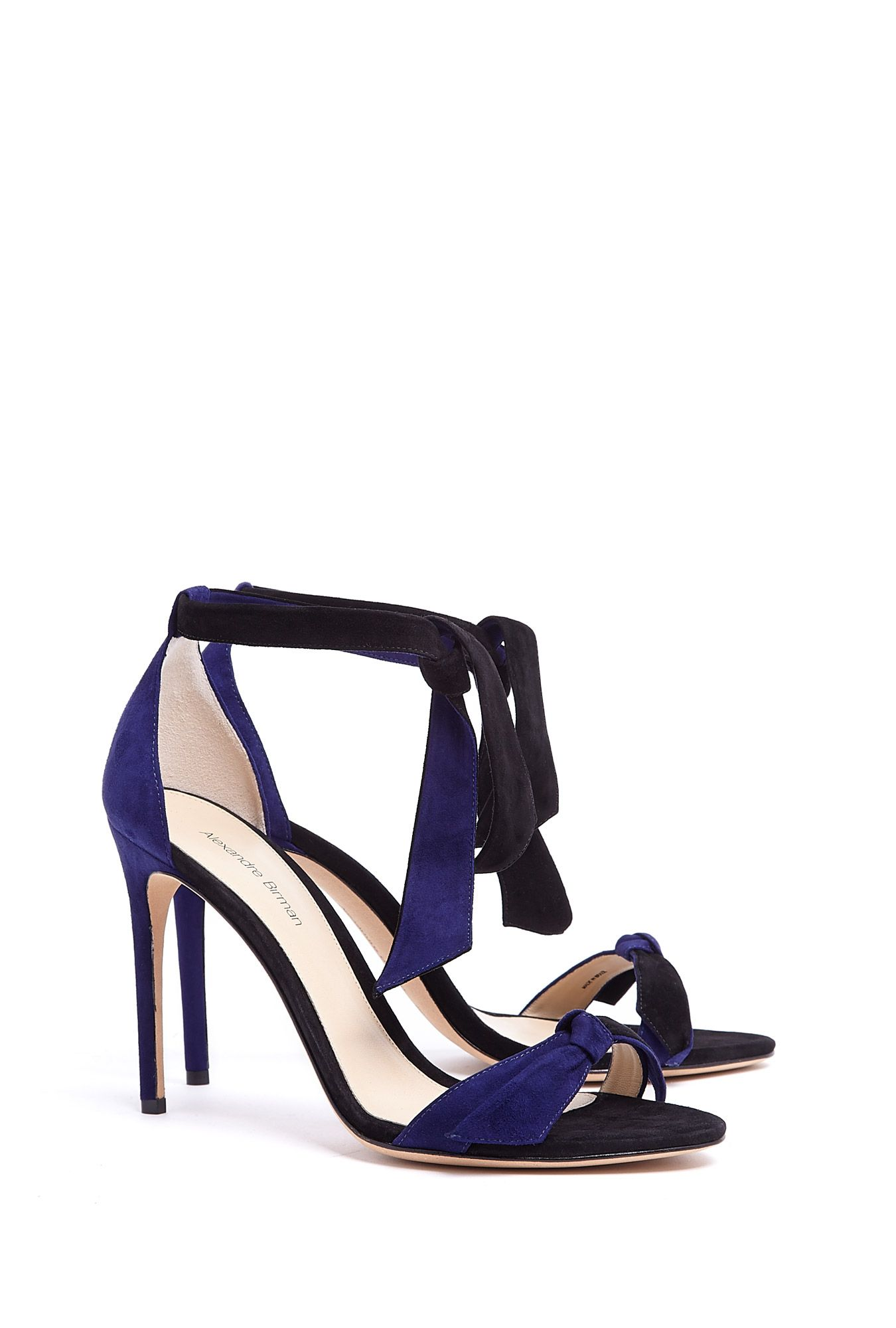 Photo of Tie-Fastening Suede Sandals by Alexandre Birman – Oooooh Shoes