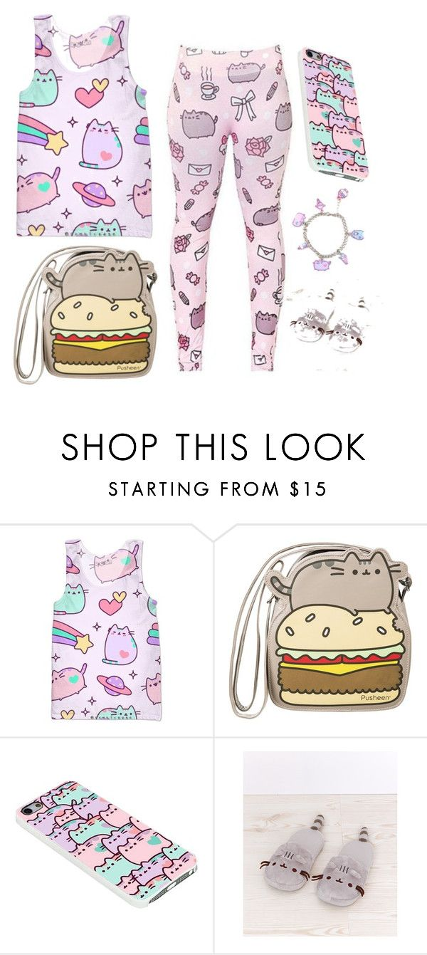 """pusheen cat"" by chantal003 ❤ liked on Polyvore featuring Pusheen"