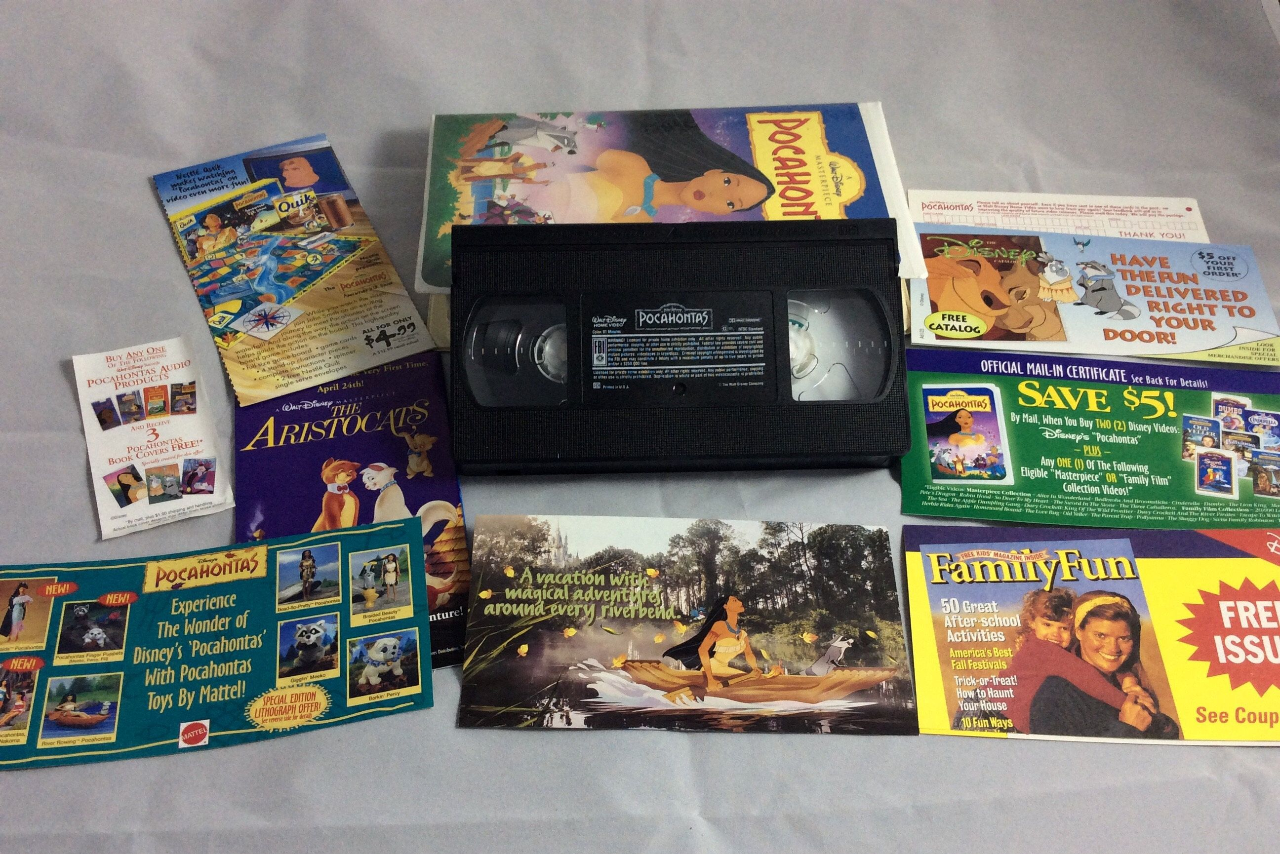 Pocahontas On Vhs Tape Walt Disney S Masterpiece Collection Vintage 90s Movies By Thetimetravelingpug Etsy