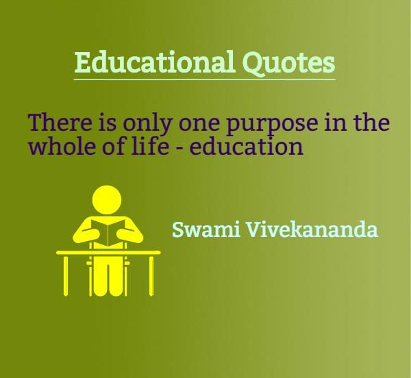 Life Education Quotes Stunning Educational Quotes There Is Only One Purpose In The Whole Of Life