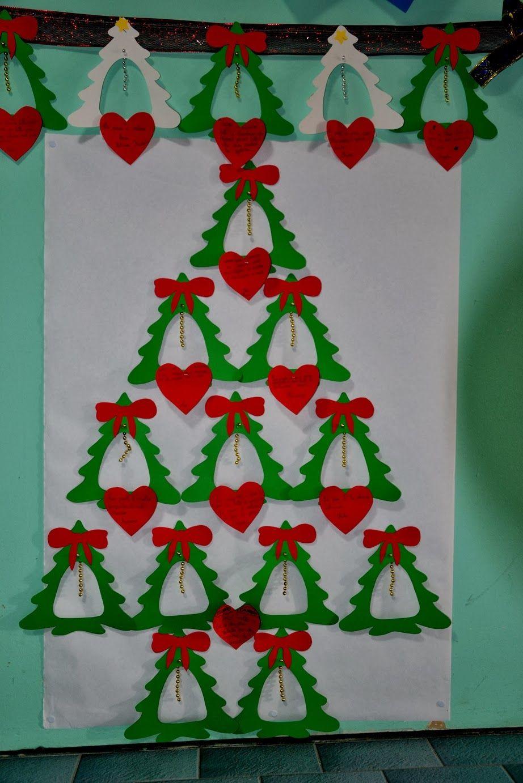 Decorare Finestre Per Natale Scuola albero di natale da punteggiare | alberi di natale