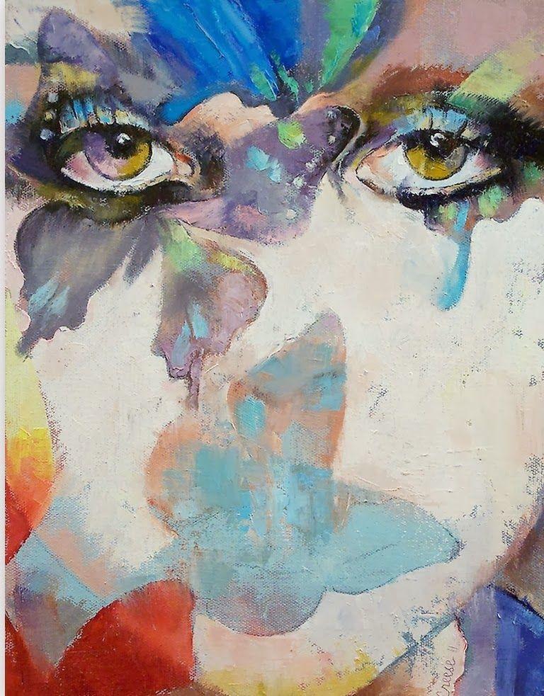 Cuadros De Abstractos Con Rostros Femeninos Pintados Al Oleo Sobre Lienzo Pintor Michael Creese Pintura Oleo Abstracto Pinturas Abstractas óleo Sobre Lienzo