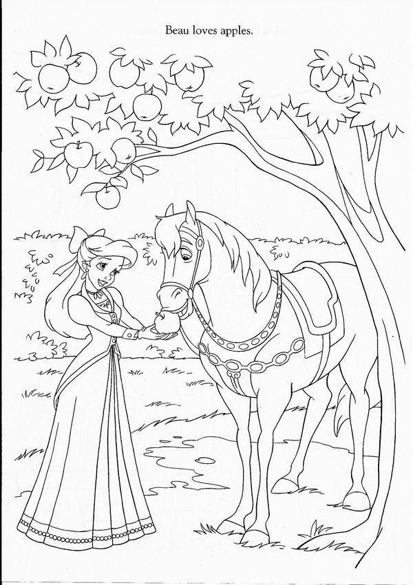 Magic Forest Princess By Julia Bitruf Malvorlagen Pferde Malvorlage Prinzessin Disney Malvorlagen