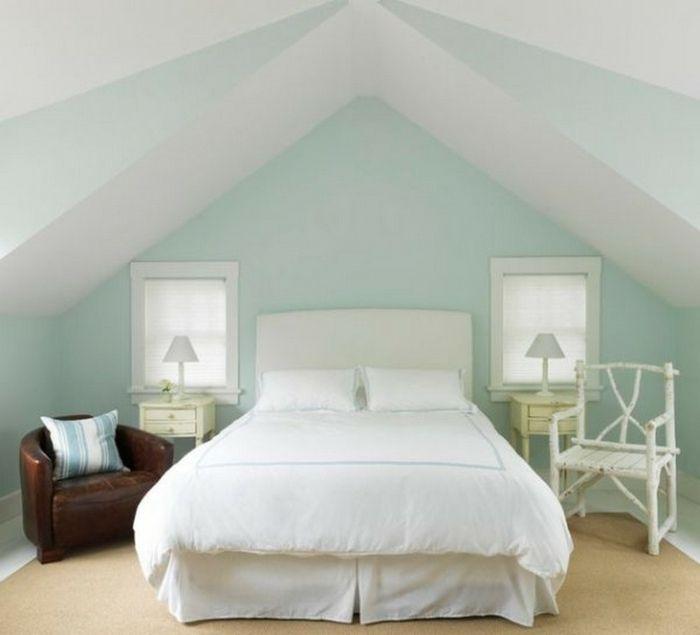 romantisches schlafzimmer design in weiß und minze und mit ... - Vergroserung Kleiner Schlafzimmer