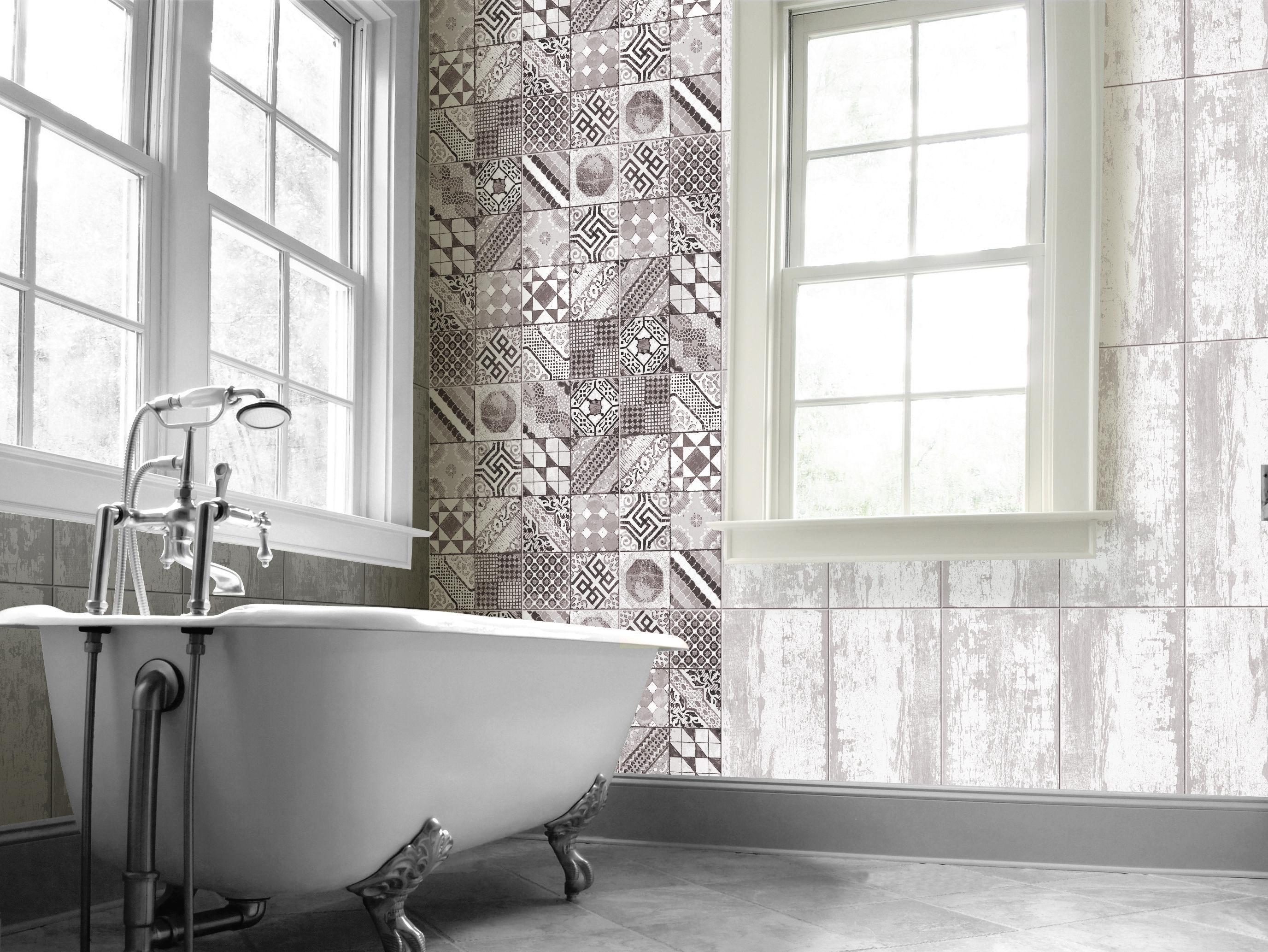 Bathroom Tile Ideas | CASTEL | Glazed Porcelain, 30X60 cm, Matt ...