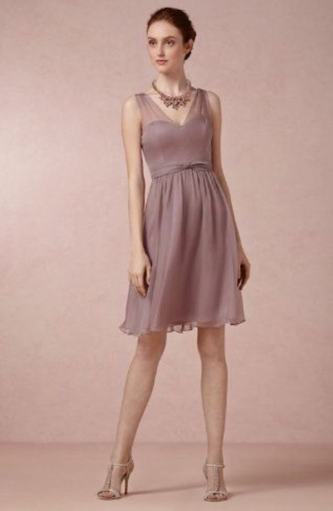 Anthropologie Bhldn Dusty Mauve Hitherto Ainsley Wedding Dress 8 Msrp 200 Short Bridesmaid Dresses Bride Reception Dresses Affordable Bridesmaid Dresses,Wedding Guest Pinterest Lace Dress Styles