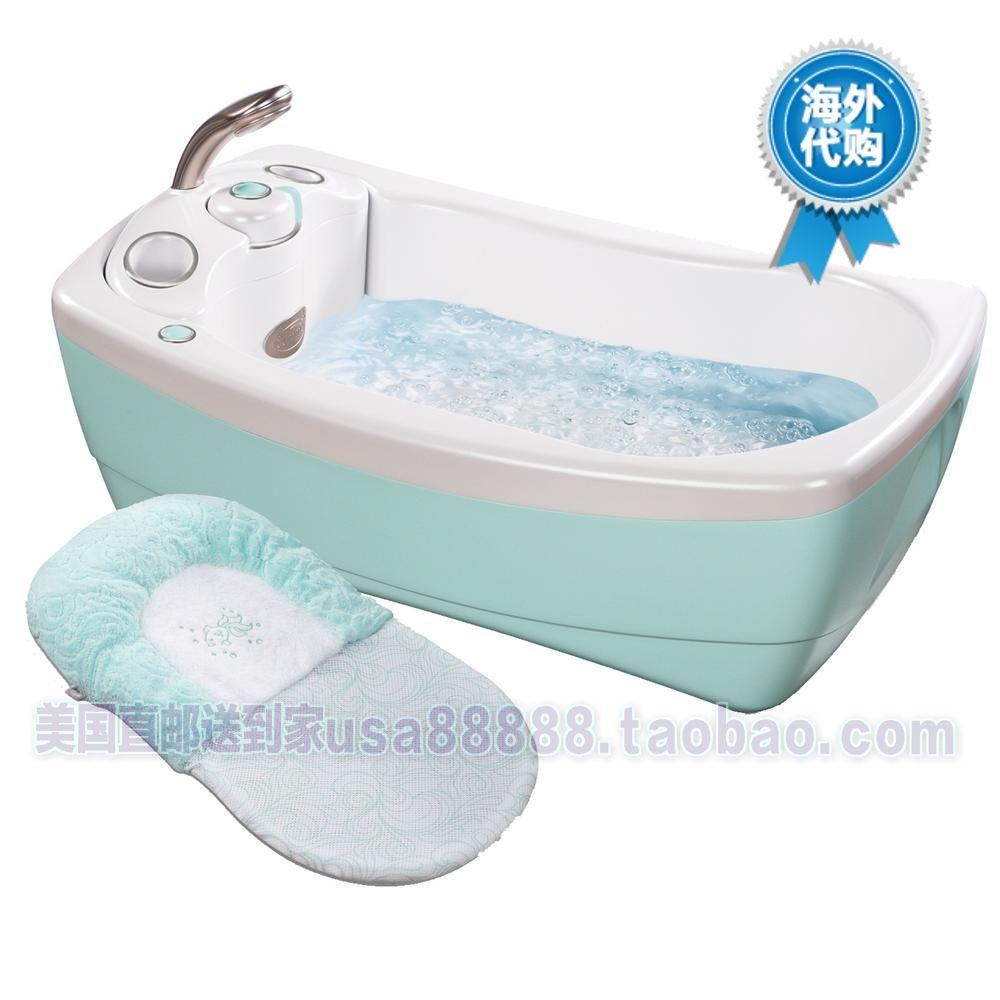 Toddler Bath Basin Summer Infant Baby Luxury Massage Bathtub