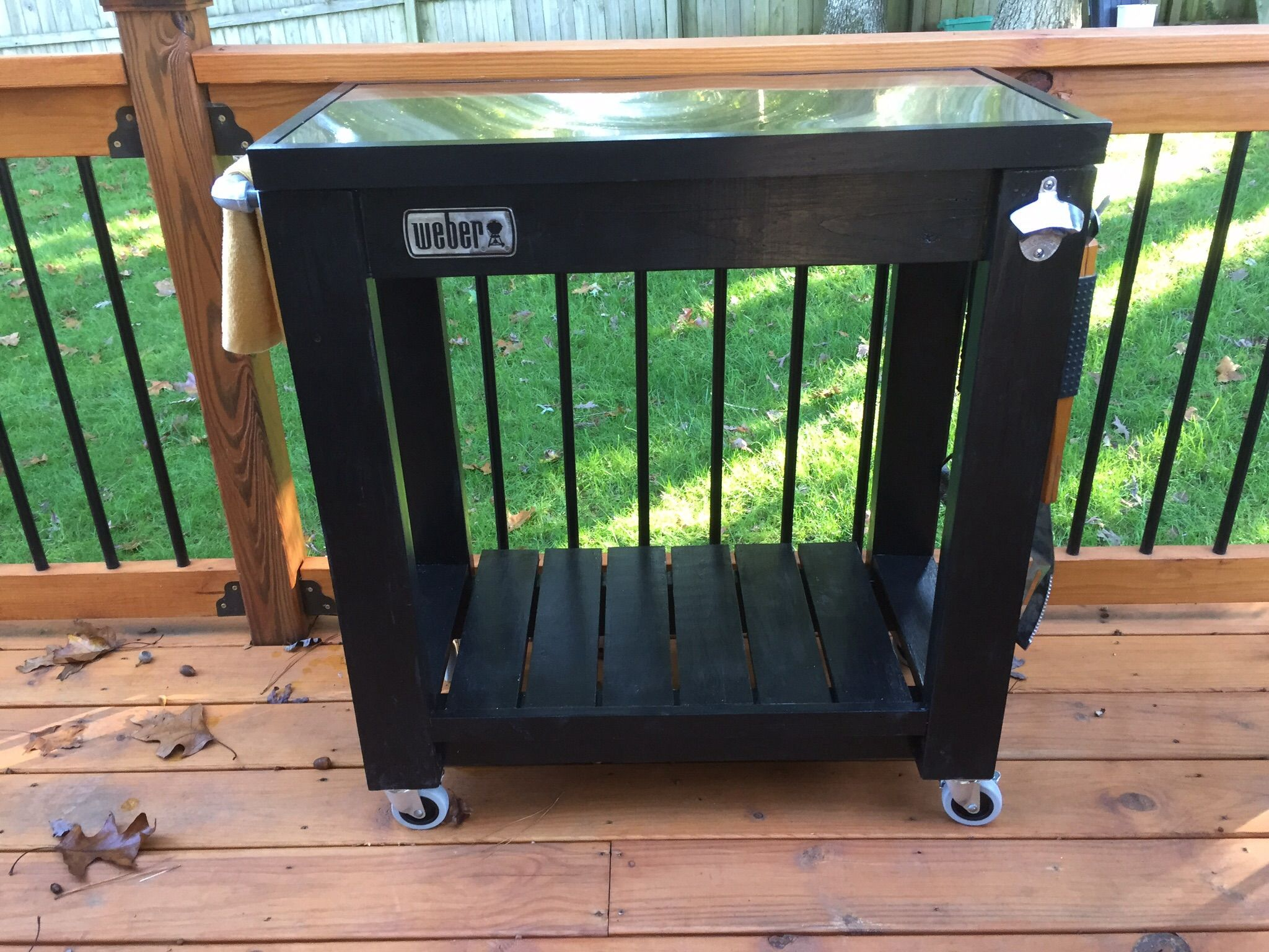 Rolling Grill Cart Table Do It Yourself Home Projects