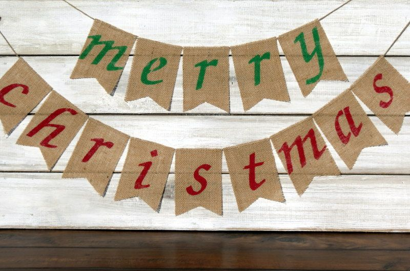 merry christmas burlap banner photography prop by nhayesdesigns 3500 - Merry Christmas Burlap Banner