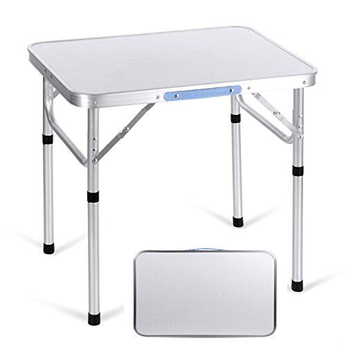 Folding Beach Table Aluminum Portable Camping Picnic Table Ultralight in//Outdoor