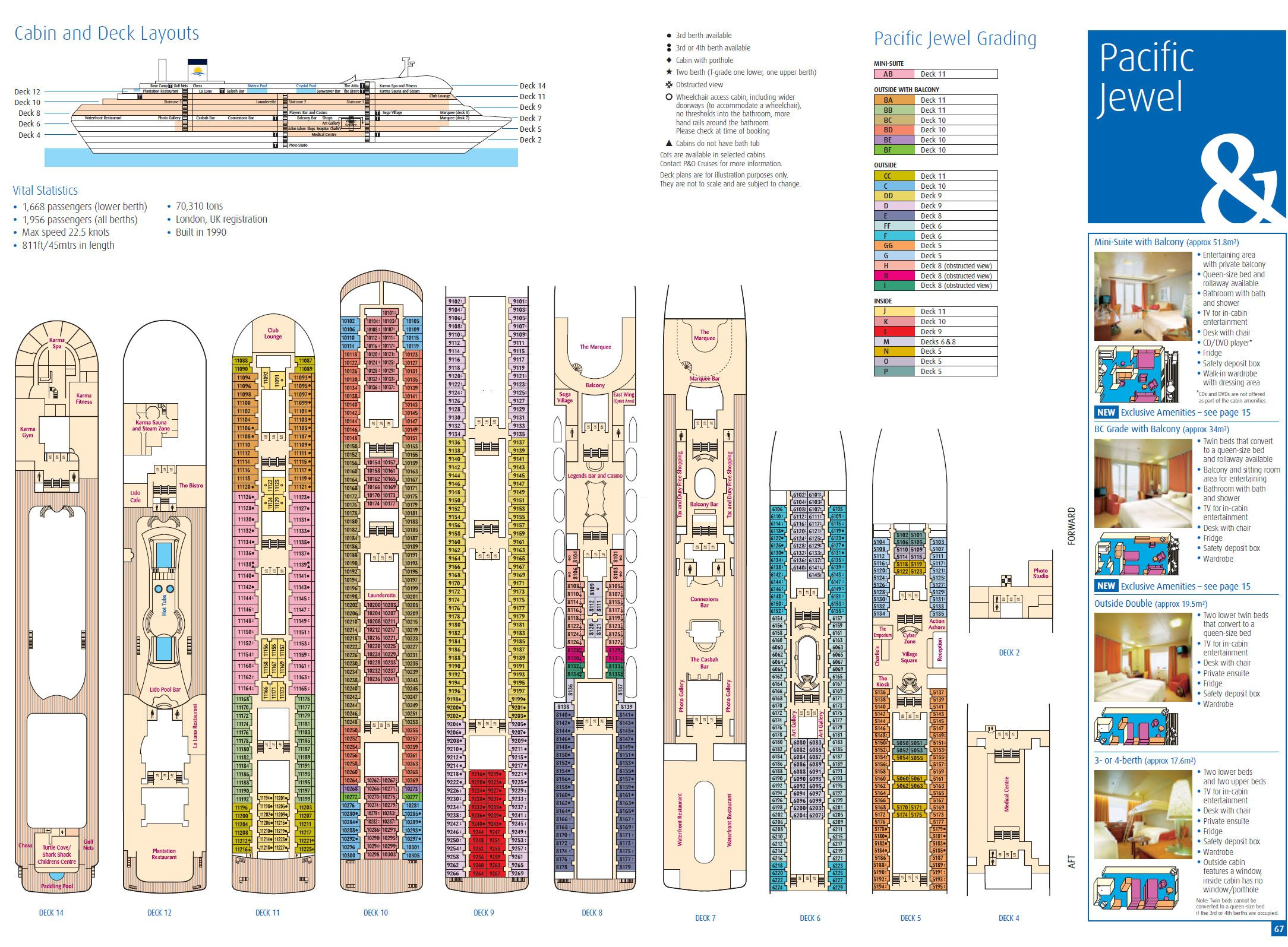 Deck plan for pacific jewel travel cruises pinterest image deck plan for pacific jewel baanklon Choice Image
