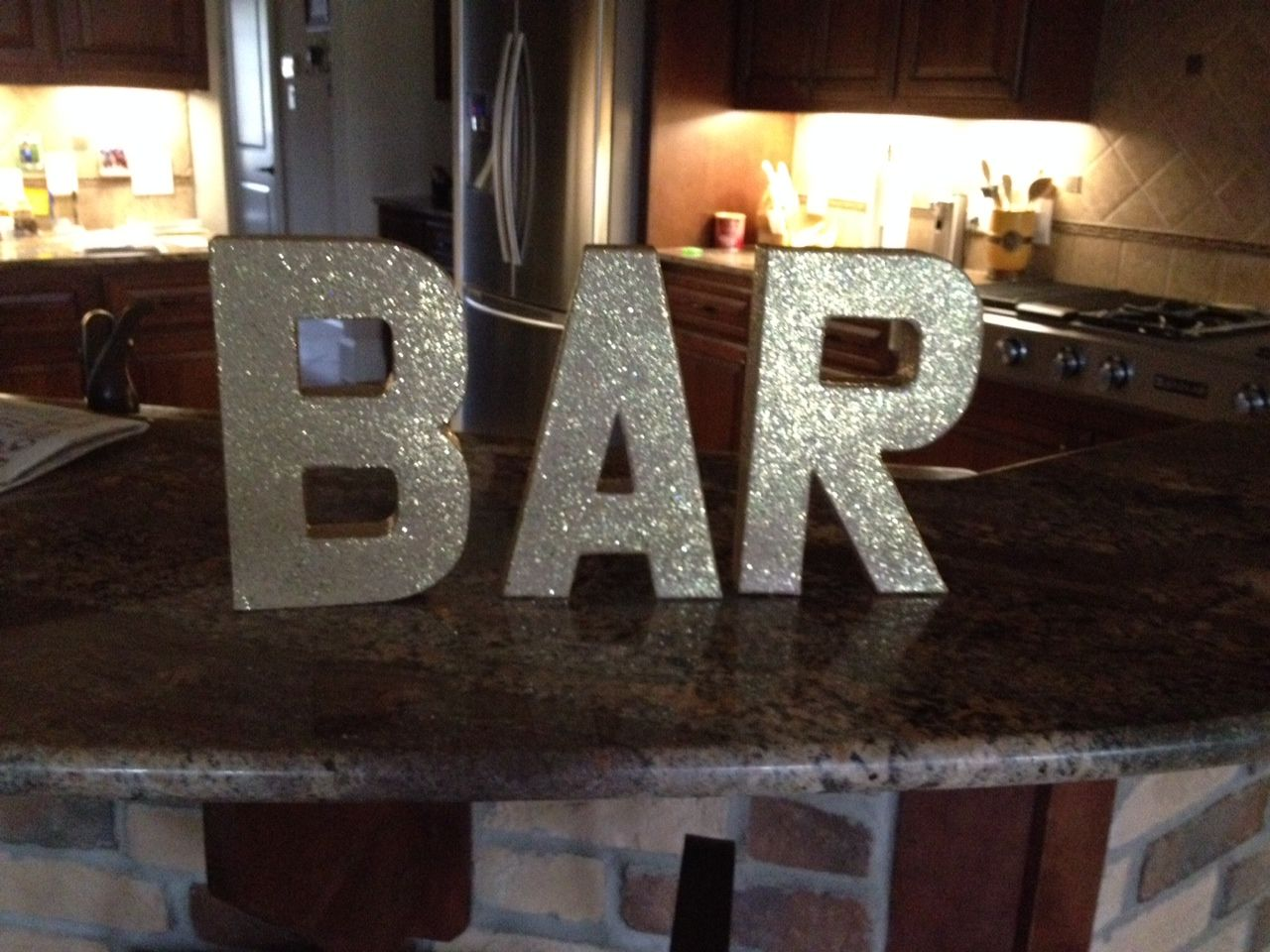 Gold Glitter Cardboard Letters Bought At Hobby Lobby And I Used Mog Podge Sp With Gold Glitter Added As I Brushed It On Cardboard Letters Birthday Candles