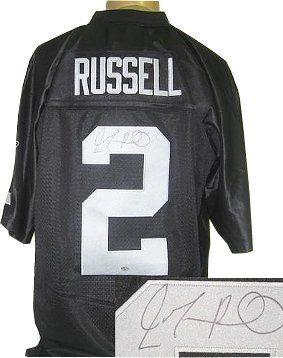 825e85f6 Jamarcus Russell signed Oakland Raiders Black Reebok EQT Jersey ...