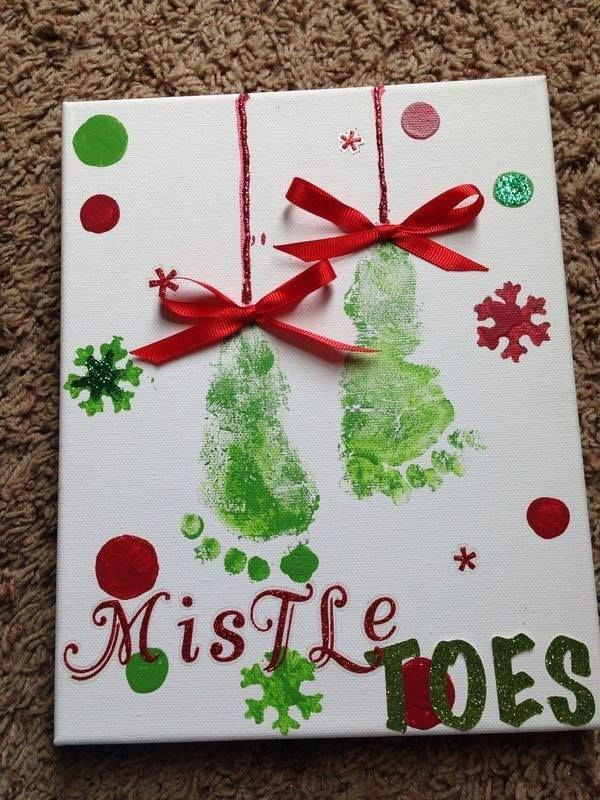 The BEST Hand and Footprint Art Ideas #babychristmascrafts