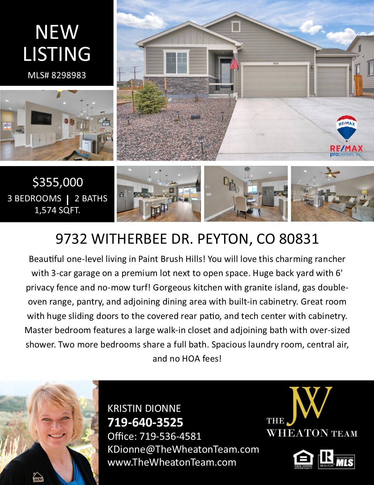 Homes for sale in Peyton Colorado in 2020 Open space