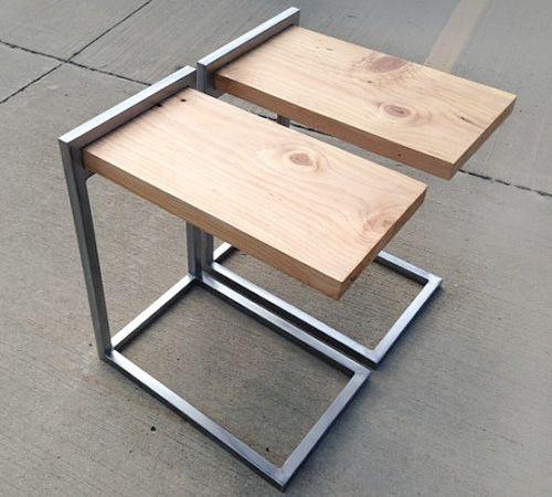 Mesas de dubuque hechas a mano madera acero handmade - Mesas de madera hechas a mano ...