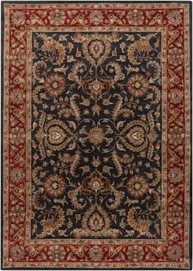 Surya Charcoal Red Middleton Georgia Rug Traditional Runner 2 3 X 12 Artistic Weavers Hand Tufted Rugs Blue Area Rugs