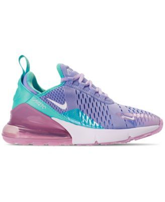 dc5a2b53fd7 Nike Girls  Air Max 270 Unicorn Casual Sneakers from Finish Line - Blue 4.5