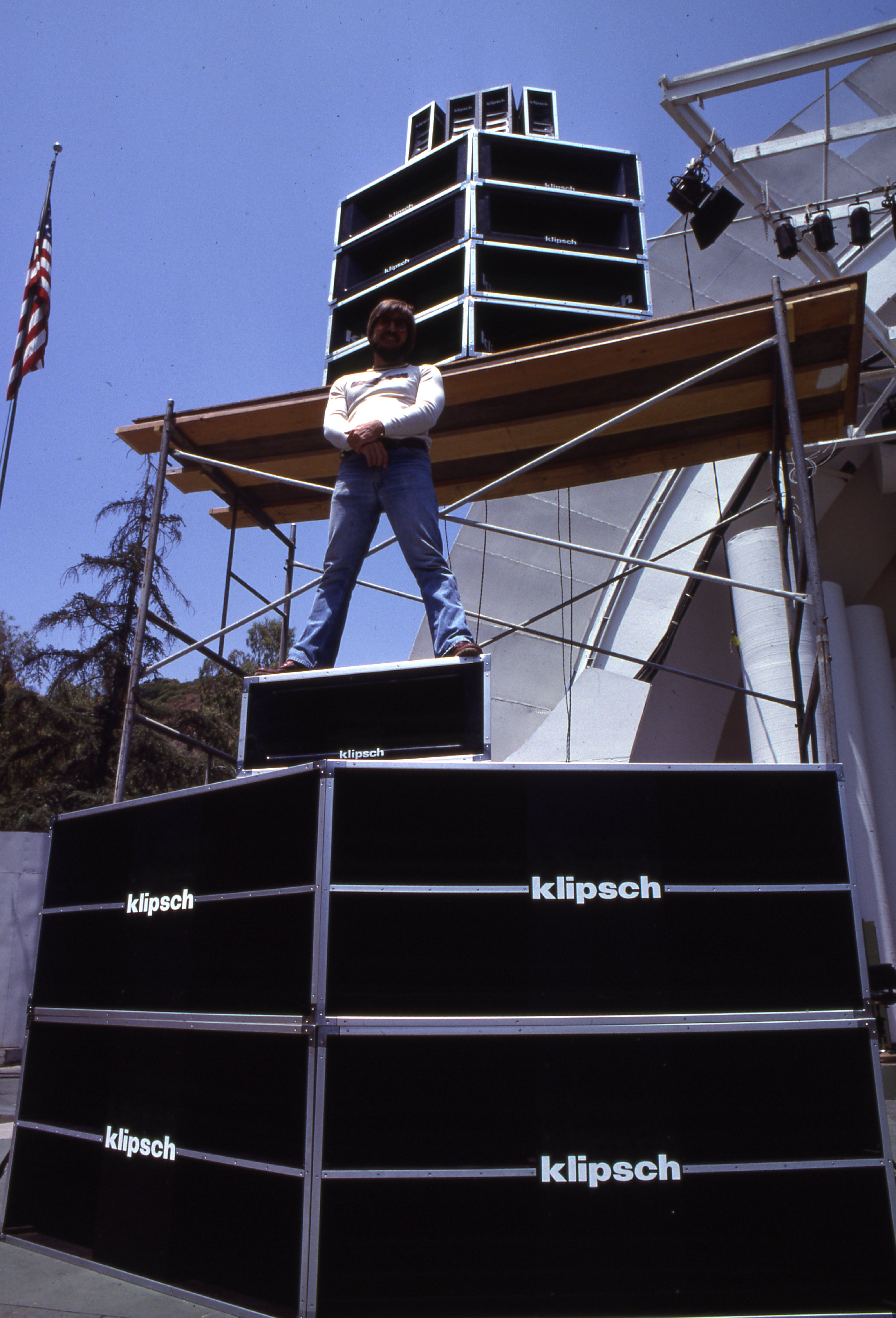 When Klipsch got into concert speakers, they got into them