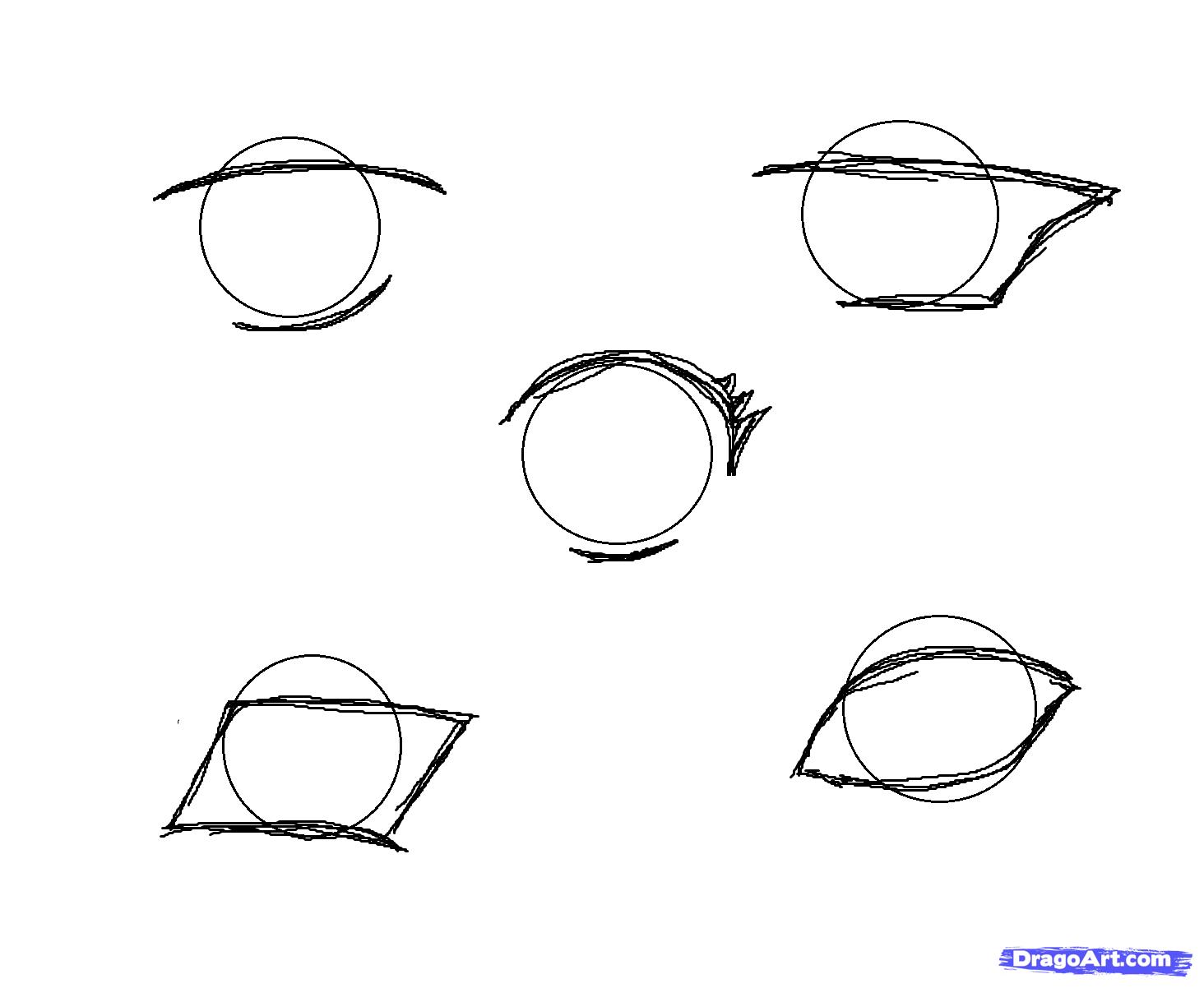 How To Draw Manga Eyes Step 2