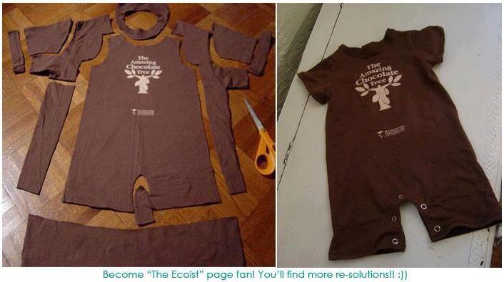 da fare, un giorno.. come riutilizzare t-shirt per realizzare tutine per i piccoli.. io lo farei con delle magliette di cui sono particolarmente affezionata <3!