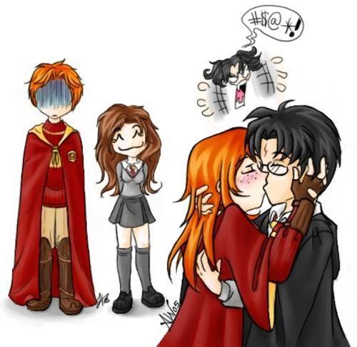 Lol Romilda Vane In The Background Harry Potter Drawings Harry Potter Anime Harry Potter Couples