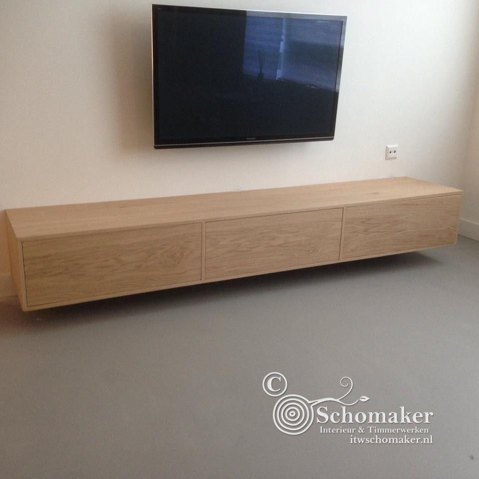 Hangend Tv Wandmeubel Op Maat Gemaakt Van Frans Eiken Hout Strak  # Meuble De Tv Ikea