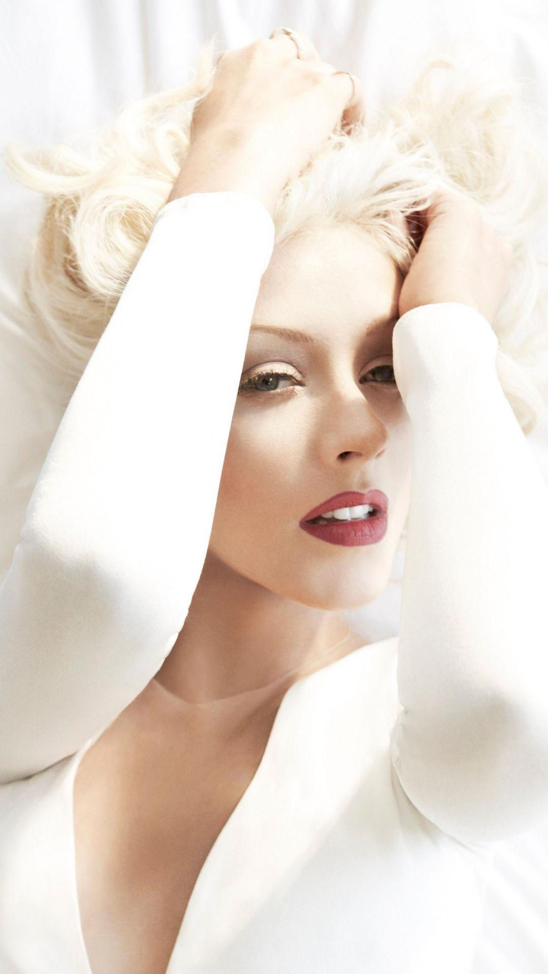 Christina Aguilera American Singer White Dress 1080x1920 Wallpaper Christina Aguilera Christina Celebrity Wallpapers