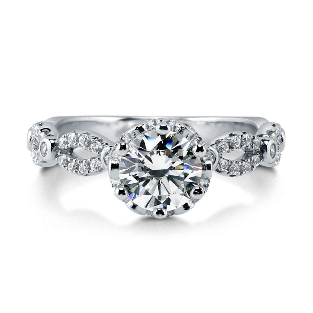 [Sponsored]Sterling Silver Solitaire Ring Made With Swarovski® Zirconia GnmPGiI3X