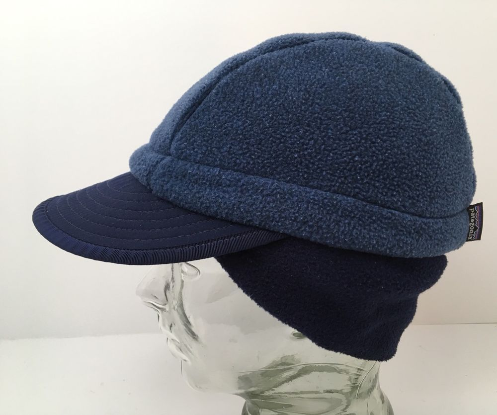 893c64d38da Patagonia Vintage USA Duckbill Cap Synchilla Fleece Hat Two Tone Blue  Medium  Patagonia  Duckbill