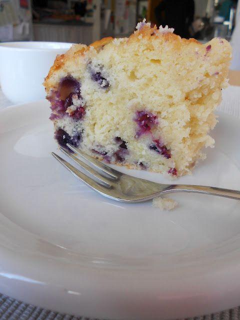 Kleiner Blaubeer-Lemoncurd-Kuchen