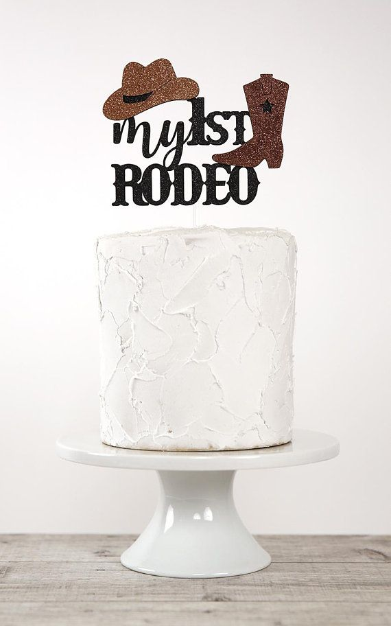 My 1st RODEO Cake Topper Western Theme Birthday Cowboy First Glitter Party D