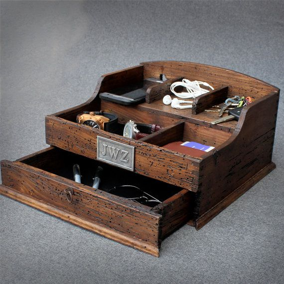 Personalized Rustic Men's Valet Box With By
