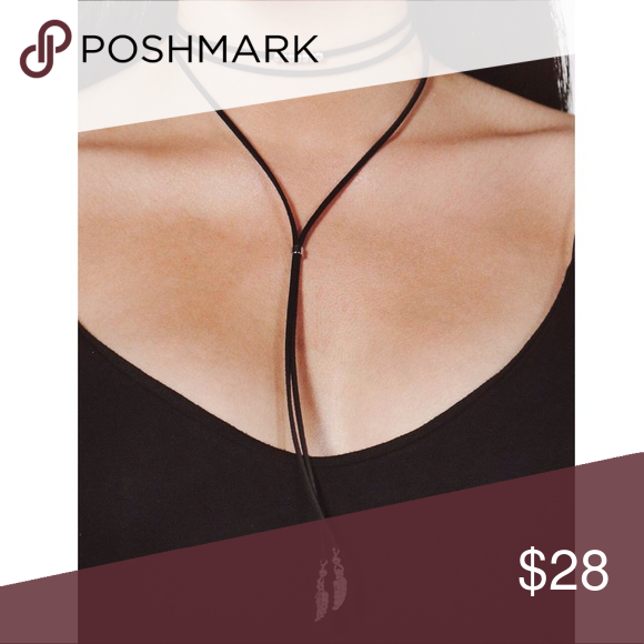 Feather Detail Choker Gorgeous choker gives an urban look to any outfit Jewelry Necklaces