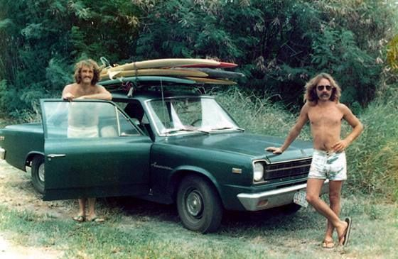 UK surfer Pete PJ Jones and his cool friend. The picture is supposed to be from a road trip in Australia in the early 70s