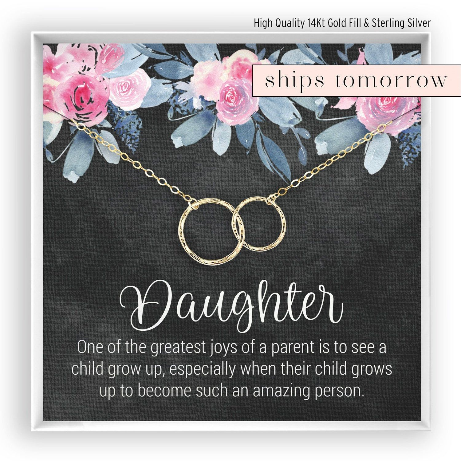 Daughter necklace gift for da ughter daughter jewelry