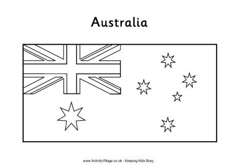 australian flag printables - Australia Coloring Pages Printable