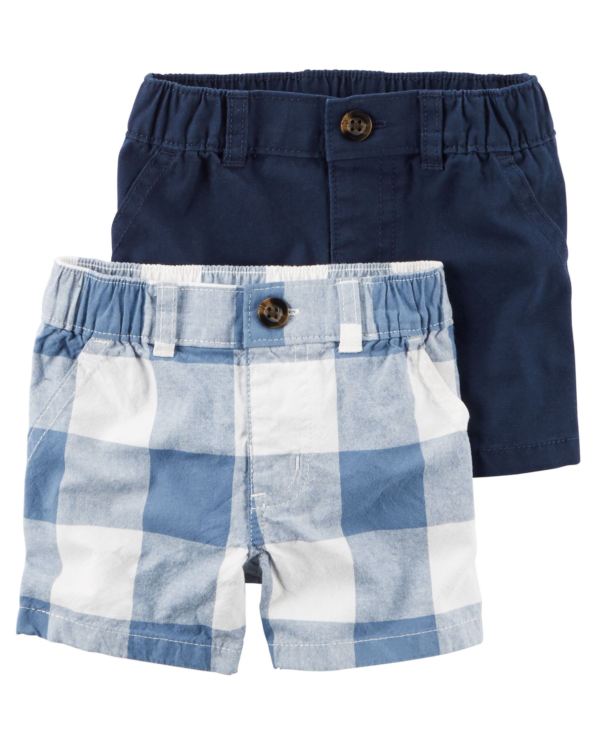 5bd8cb1c0 Baby Boy 2-Pack Shorts from Carters.com. Shop clothing & accessories from a  trusted name in kids, toddlers, and baby clothes.