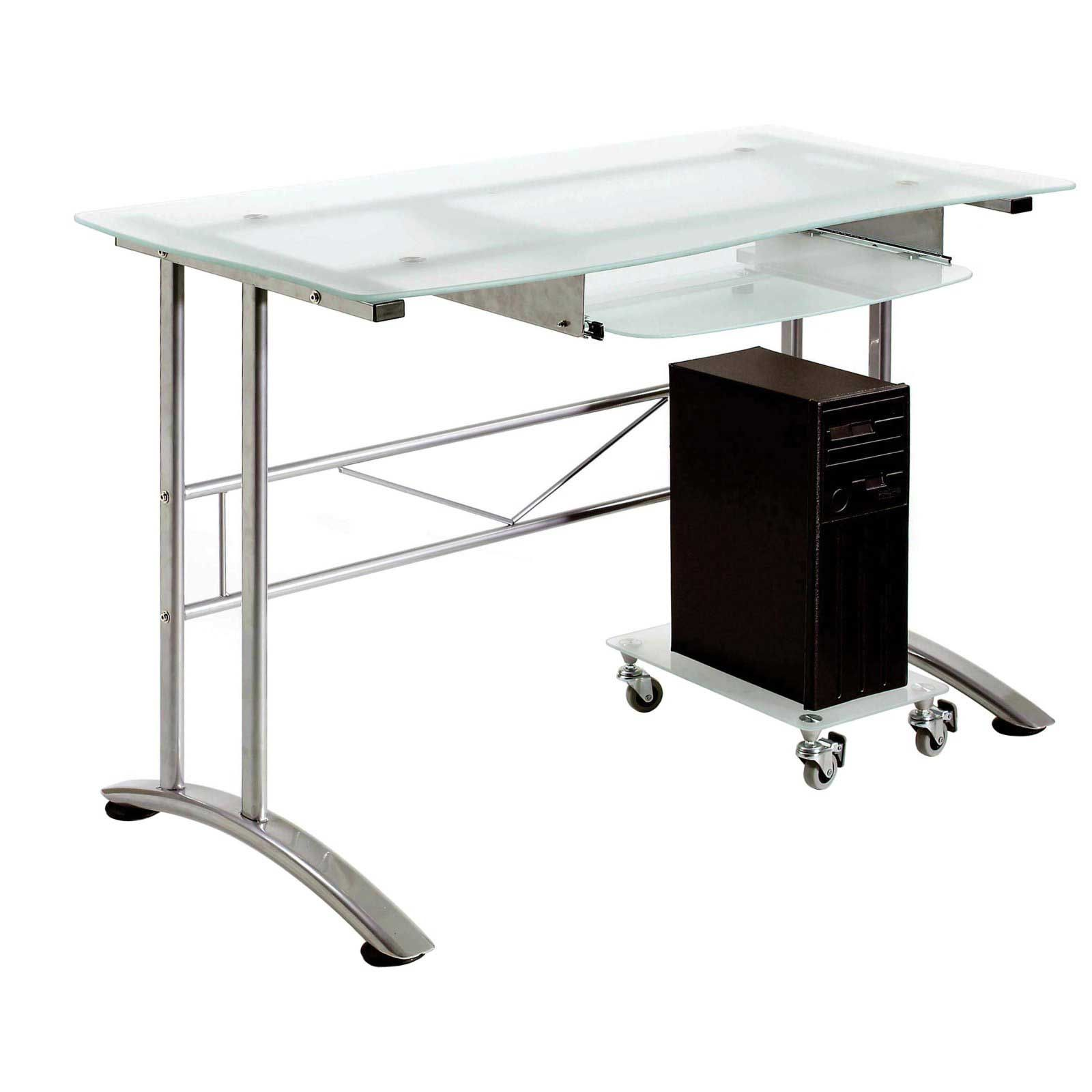 Ital Bjorn Computer Desk With Frosted Glass Design Office Furniture Modern Desk Modern Glass Desk