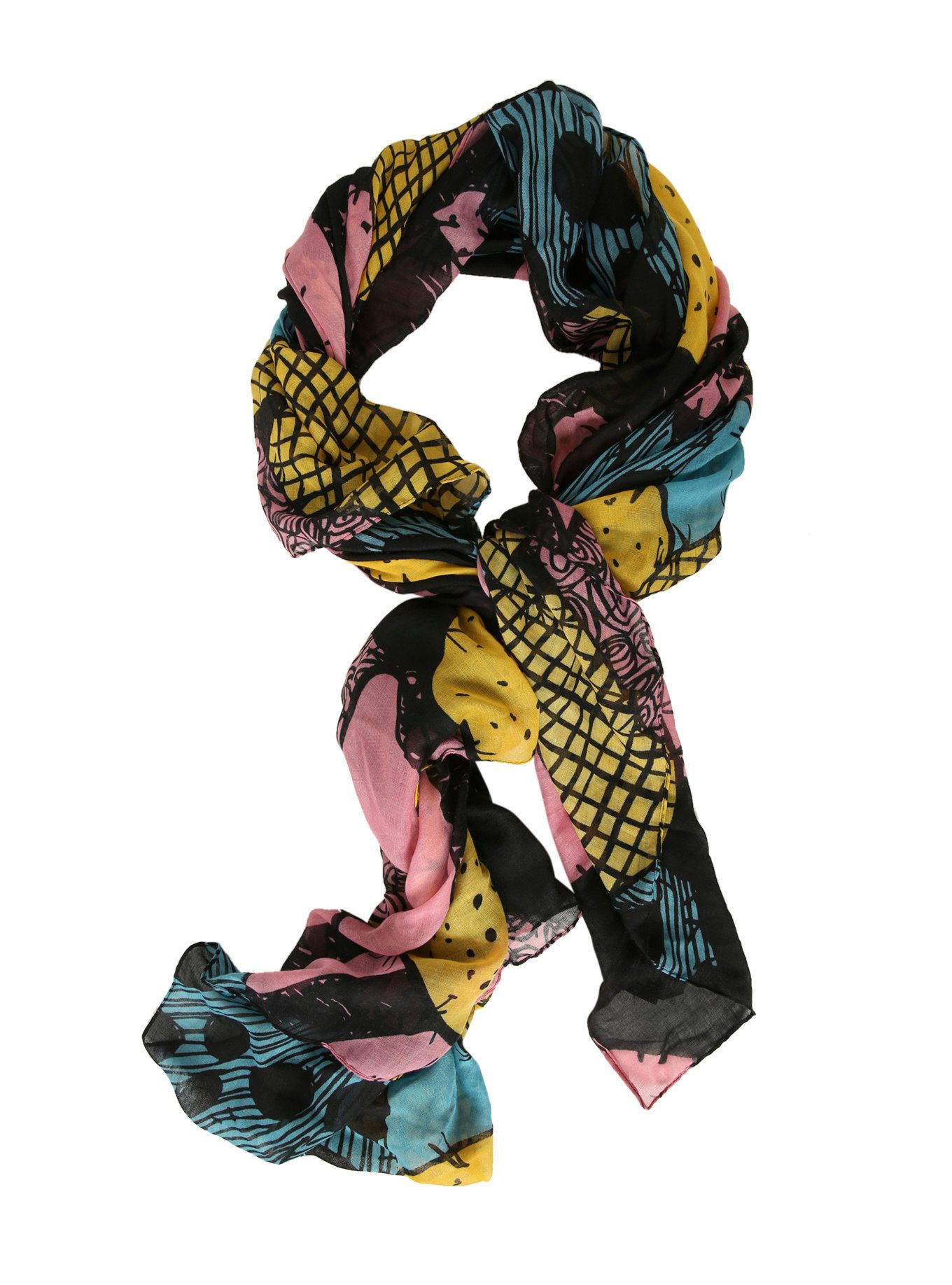 The Nightmare Before Christmas Patchwork Scarf | Access~O~Rize ...